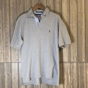 Tommy Hilfiger Classic Fit Gray Polo Size L